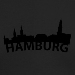 Arc Skyline Of Hamburg Germany - Men's Long Sleeve T-Shirt by Next Level