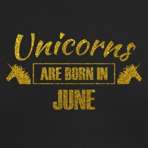 unicorns are born in june - gold glitter bday - Men's Long Sleeve T-Shirt by Next Level