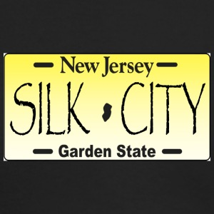 NEW JERSEY LICENSE PLATE silk city - Men's Long Sleeve T-Shirt by Next Level