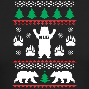 Bear Hug Festive - Men's Long Sleeve T-Shirt by Next Level