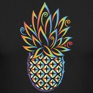 Pineapple, summer, rainbow tattoo style - Men's Long Sleeve T-Shirt by Next Level