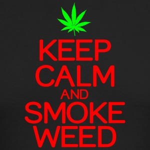Keep calm smoke weed - Men's Long Sleeve T-Shirt by Next Level