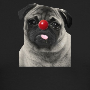 Red Nose Day Pug - Men's Long Sleeve T-Shirt by Next Level