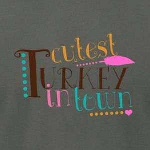 Cutest Turkey In Town Kids T Shirt - Men's T-Shirt by American Apparel