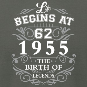 Life begins 62 1955 The birth of legends - Men's T-Shirt by American Apparel