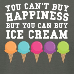 You Can't Buy Happiness Buy You Can Buy Ice Cream - Men's T-Shirt by American Apparel