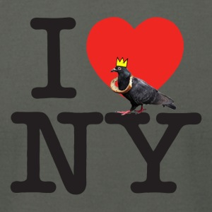 i pigeon ny crown - Men's T-Shirt by American Apparel