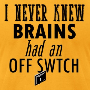 funny brain design - Men's T-Shirt by American Apparel