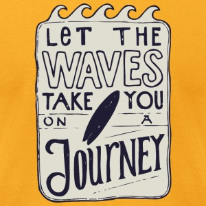 Let the waves take you on a journey - Men's T-Shirt by American Apparel