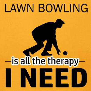 Lawn Bowling is my therapy - Men's T-Shirt by American Apparel