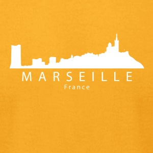 Marseille France Skyline - Men's T-Shirt by American Apparel