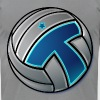 Volleyball logo - Men's Fine Jersey T-Shirt