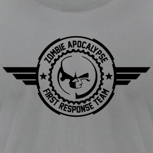 Zombie apocalypse first responder team - Men's T-Shirt by American Apparel