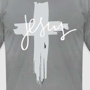 Jesus Cross T-Shirt |Christianity T-Shirts - Men's T-Shirt by American Apparel