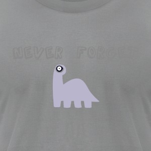 Never forget the dinosaurs - Men's T-Shirt by American Apparel
