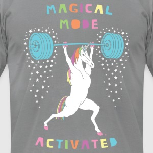 Magical Mode Unicorn - Men's T-Shirt by American Apparel