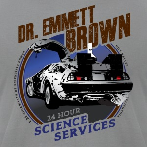 Dr. Emmett Brown Science Services - Men's T-Shirt by American Apparel