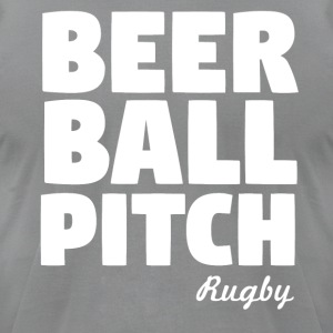Beer Ball Pitch Rugby - Men's T-Shirt by American Apparel