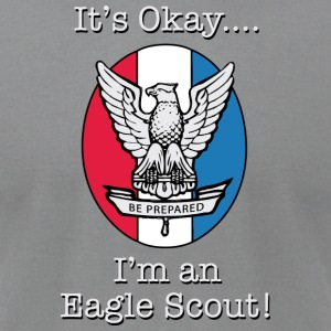Eagle Scout (Dark) - Men's T-Shirt by American Apparel