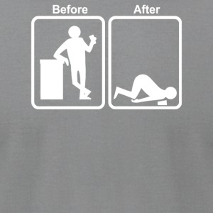 Before After - Men's T-Shirt by American Apparel