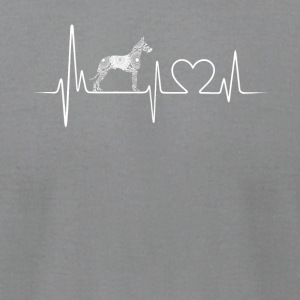 great dane heartbeat shirt - Men's T-Shirt by American Apparel