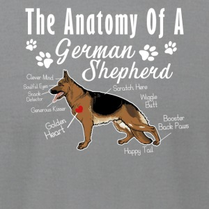 The Anatomy Of A German Shepherd Shirt - Men's T-Shirt by American Apparel