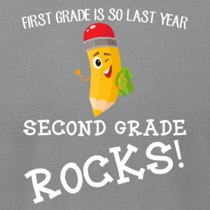 first grade is so last year, second grade Rocks! - Men's T-Shirt by American Apparel