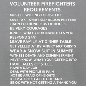 Firefighter - Men's T-Shirt by American Apparel