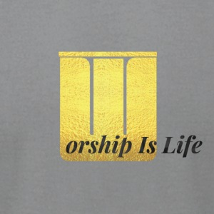Worship Is Life - Men's T-Shirt by American Apparel