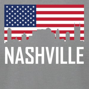 Nashville Tennessee Skyline American Flag - Men's T-Shirt by American Apparel