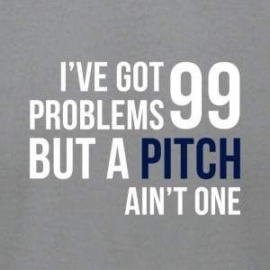 99 Pitches (White & Indigo) - Men's T-Shirt by American Apparel