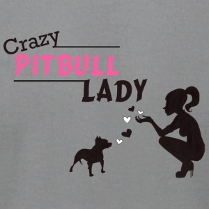 Crazy Pitbull Lady - Men's T-Shirt by American Apparel