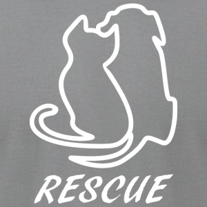 Rescue white - Men's T-Shirt by American Apparel