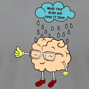wash your brain - Men's T-Shirt by American Apparel
