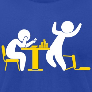 A Poker Player Wins A Game - Men's T-Shirt by American Apparel