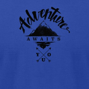 Adventure Awaits - Men's T-Shirt by American Apparel
