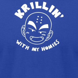 Krillin With My Homies - Men's T-Shirt by American Apparel