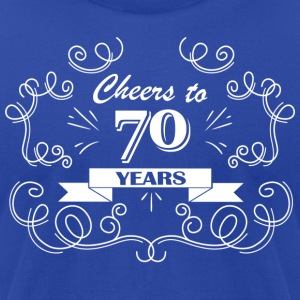 Cheers to 70 years - Men's T-Shirt by American Apparel