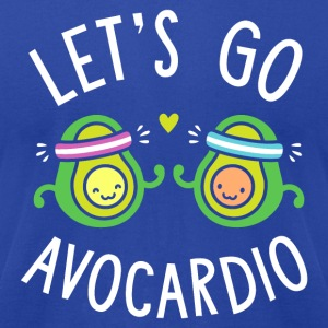 Let's Go Avocardio | Cute Avocado Pun - Men's T-Shirt by American Apparel