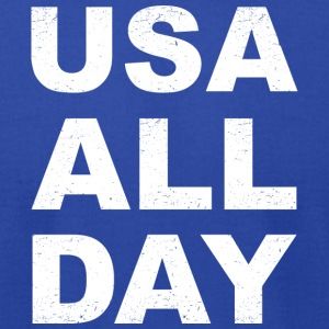USA All Day - Men's T-Shirt by American Apparel
