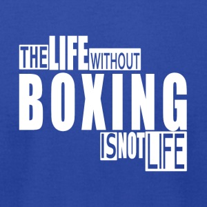 Life without Boxing-cool shirt,geek hooddie,tank - Men's T-Shirt by American Apparel