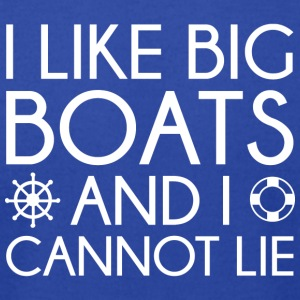 I Like Big Boats - Men's T-Shirt by American Apparel