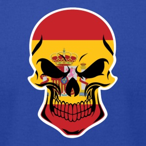 Spanish Flag Skull - Men's T-Shirt by American Apparel