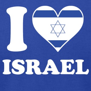 I Love Israel Israeli Flag Heart - Men's T-Shirt by American Apparel