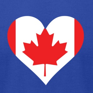 A Heart For Canada - Men's T-Shirt by American Apparel