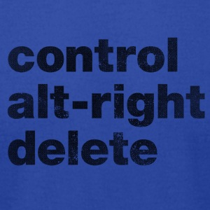 Control Alt-Right Delete Black - Men's T-Shirt by American Apparel
