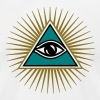 All seeing eye, triangle, god, Symbol omniscience - Men's Fine Jersey T-Shirt