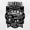 America Runs On Diesel - Street Vintage Car Shirt - Men's Fine Jersey T-Shirt