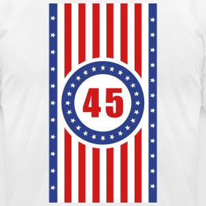 USA 45 Flag Vertical - Men's T-Shirt by American Apparel