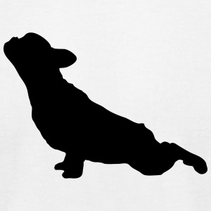 French Bulldog Yoga - Men's T-Shirt by American Apparel